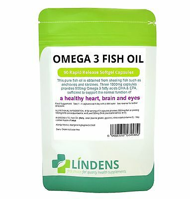 AU11.66 • Buy Omega 3 Fish Oil 30% DHA / EPA 90 Capsules High Strength Best Quality Supplement