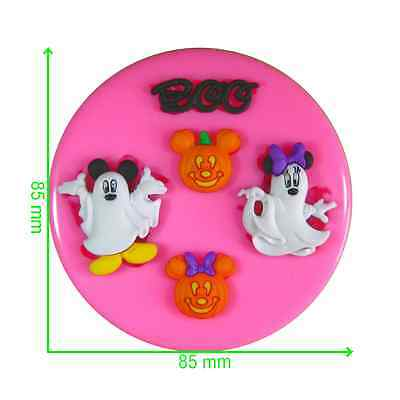 Disney Halloween Mickey & Minnie Mouse Ghosts Silicone Mould By Fairie Blessings • 6.75£