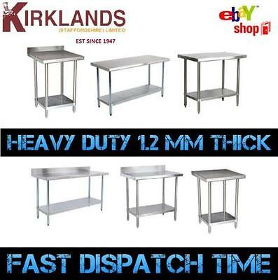 Stainless Steel Table Catering Work Bench Table Kitchen Top 2ft To 6ft • 135.99£