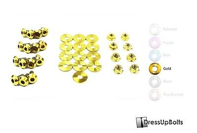 $148.49 • Buy Dress Up Bolts For 99-04 Ford Mustang GT & Cobra Gold Titanium Engine Bay Kit