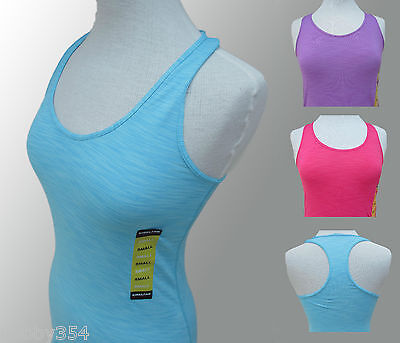 Ladies Y Back Top Vest Tank Sports Yoga Running Gym Wicking Stretch XS S M L XL • 2.95£