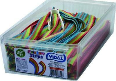 Tub 200 X Rainbow Strips Belts Wholesale Wedding Christmas RETRO SWEETS CANDY • 112.99£