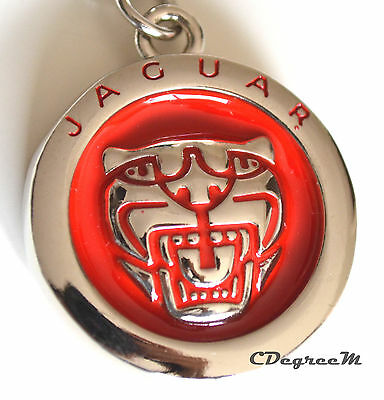 AU8.99 • Buy Classic Jaguar Red Silver Metal Keyring Double Sided XE XF XJ F PACE F TYPE