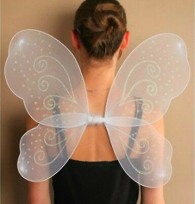 £3.85 • Buy Butterfly Fairy Wings Fancy Dress Dressing Up Ladies Party Lilac Pink White