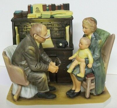 $ CDN106.67 • Buy Norman Rockwell  First Anual Visit   GORHAM RW-31 Figurine First Annual Visit