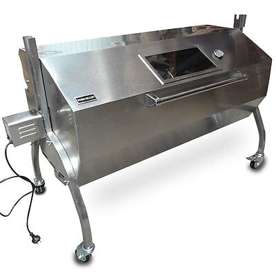 AU550 • Buy Large Stainless Steel 60KG BBQ Charcoal Pig Spit Rotisserie Barbeque