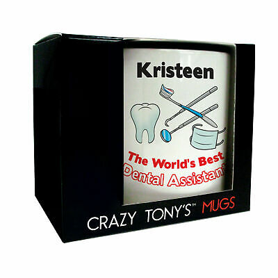 Personalised Dental Assistant Gift Boxed Mug Worlds Best Dental Assistant Gifts • 11.94£