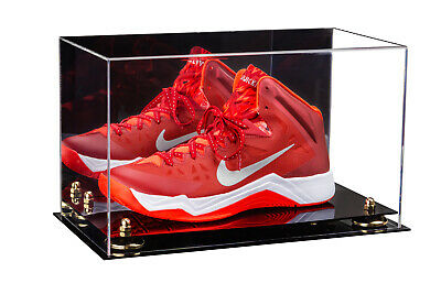 Basketball Shoe Acrylic Display Case-Mirror-Gold Risers (A013-GR) • 66.29$
