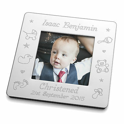 £10.95 • Buy Engraved Small Magnetic Photo Frame Baby Christening Baptism Naming Day Gift