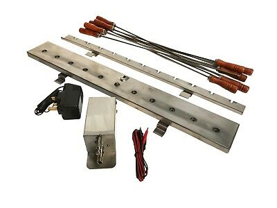 £94.99 • Buy Cypriot 11 Rotisserie Skewer Motorized Gearing System To Affix To Your BBQ