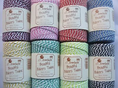£7.85 • Buy 100m Roll Candy Striped Bakers Twine - Large Range Of Colours