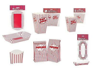 Cinema Food Containers Holder Tray Pizza Hot Dog Fries Pop Corn Party Treat Box  • 2.99£