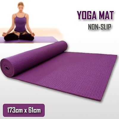 AU24.95 • Buy Extra Thick 6mm PVC Yoga Gym Pilate Mat Fitness Non Slip Exercise Board Purple