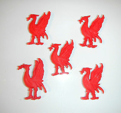 Loose Cake Decorations 5 X Birds Great For Any Liverpool Fans. • 5.95£