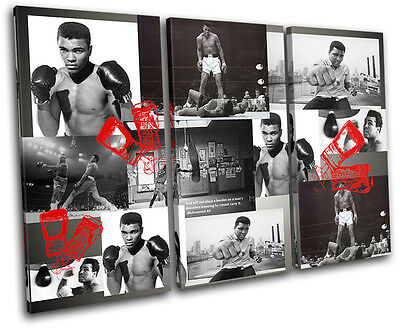 £49.99 • Buy Ali Boxing Gloves  Iconic Celebrities CANVAS WALL ART Picture Print VA