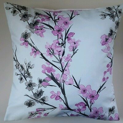 £8.99 • Buy Cushion Cover In Next Oriental Blossom Butterfly Floral 16  Matches Curtains
