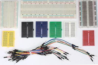 £5.99 • Buy Solderless Prototype PCB Breadboard, Jumper Leads Wires 7 Colour