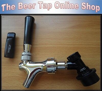 Chrome Beer Tap Faucet With CMB Ball Lock Disconnect For Cornelius / Corny Kegs  • 29.99£