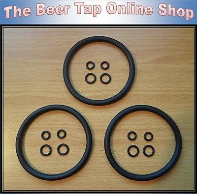 3 X High Quality Cornelius / Corny Keg Replacement O-ring Seal Kit. Home Brew • 7.99£