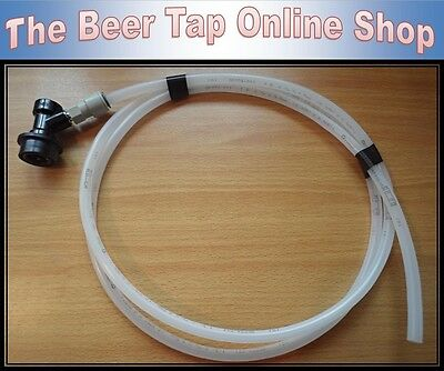 £9.45 • Buy 3/8  Beer Line / Pipe With Ball Lock Disconnect, John Guest Push-Fit. Corny Keg