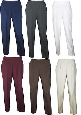 £5.99 • Buy Womens Ladies Plus Size Elasticated Pants Trousers Size 12 14 16 18 20 22 24