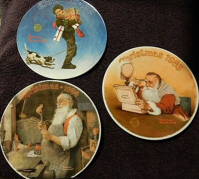 $ CDN24.26 • Buy Norman Rockwell Collector Christmas Plates