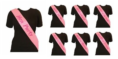 New Pink Hen Party Sashes Hen Night Party Do Accessories Bride To Be Bridesmaid • 0.99£