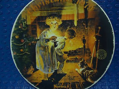 $ CDN11.84 • Buy Norman Rockwell Plate - Somebodies Up There - Christmas 1979