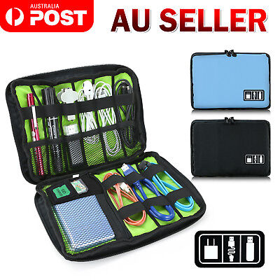 AU7.49 • Buy Electronic Accessories Storage USB Cable Organizer Bag Case Drive Travel Insert