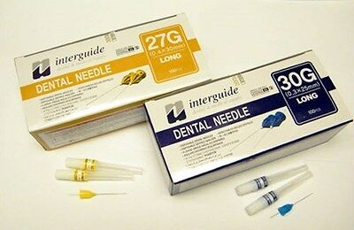 $5.99 • Buy Dental Disposable Injection Needles 30G Long (0.3 X 25 Mm) 100/pk By Interguide