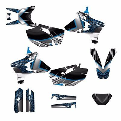 $164 • Buy 2003 2004 WR250F WR450F Graphics Decal Kit #7777Blue Free Custom Service