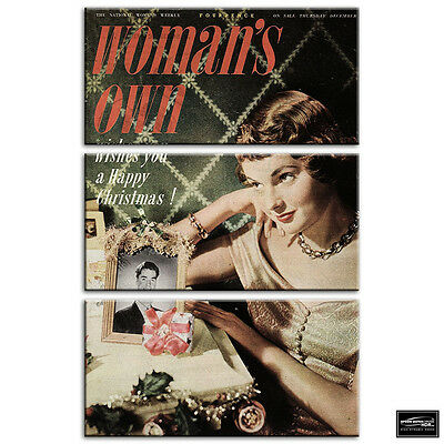 £24.99 • Buy Vintage Pin Up Advert Christmas BOX FRAMED CANVAS ART Picture HDR 280gsm
