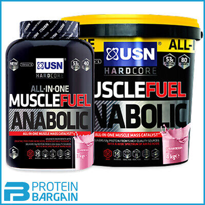 USN Muscle Fuel Anabolic All-In-One Lean Muscle 2kg / 4kg & 5.32kg Available • 28.85£