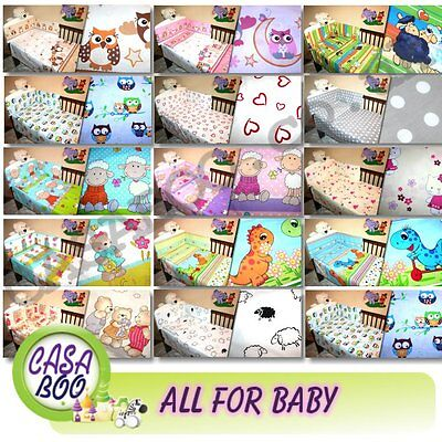 £11.99 • Buy 2/4 Pcs BABY Bedding To Fit Crib Pram Cot /Cot Bed DUVET COVER PILLOW CASE QUILT