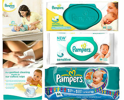 Pampers Baby Wipes (Choose Your Option) • 3.99£