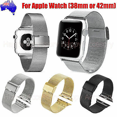 AU19.99 • Buy Milanese Stainless Steel Watch Bands Strap For Apple Watch, IWatch 38,42mm