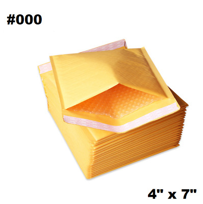 $7.59 • Buy 50PCS #000 4x8  Golden Kraft Bubble Padded Shipping Envelope Mailers Bag