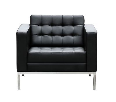 AU585 • Buy Lounge Sofa Chair 1 Seater GENUINE LEATHER Reception Area Waiting Room Office