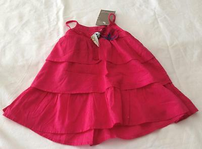 £10.68 • Buy JEAN BOURGET French Baby Girls 6m Deep Pink Summer Dress With Bow - NWT *CUTE*