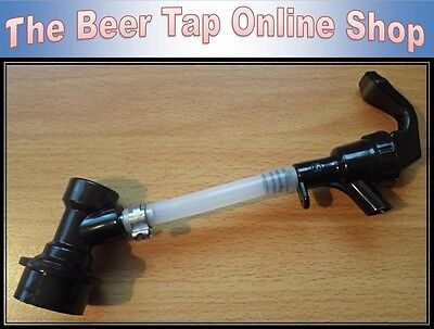 Party Tap With Beer Line & Black Ball Lock Disconnect For Cornelius / Corny Keg. • 8.50£