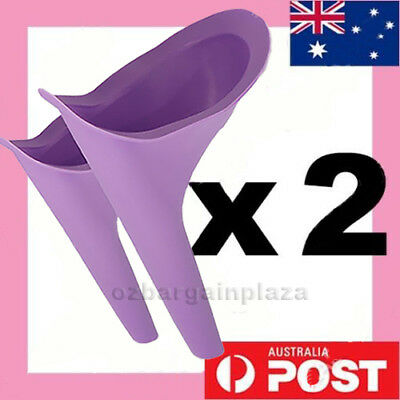 AU7.95 • Buy 2 X Portable Female Woman Ladies She Urinal Urine Wee Funnel Camping Travel Loo