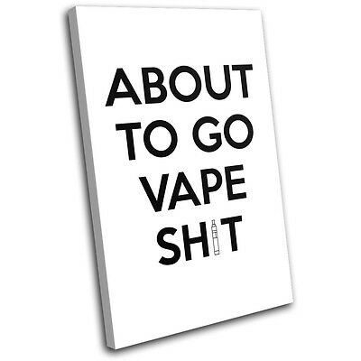 AU84.99 • Buy Vape Funny Hobbies SINGLE CANVAS WALL ART Picture Print