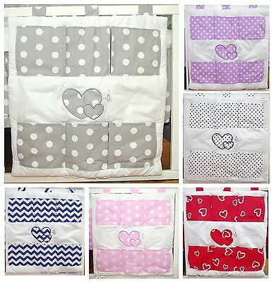 £11.99 • Buy COT TIDY ORGANISER With HEARTS ( 12 NEWEST DESIGNS )