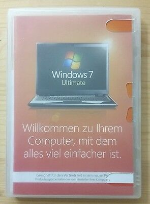 Microsoft Windows 7 Ultimate 32 Bit System Builder Vollversion Deutsch GLC-00705 • 85.61£