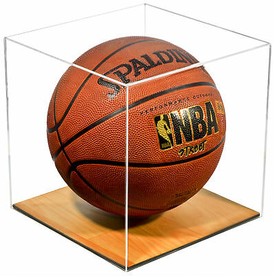 Clear Acrylic Full Size Basketball Display Case With Wood Floor (A008-CWB) • 48.79$