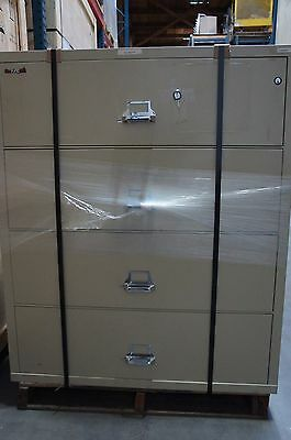 Fireking 4 Drawer Lateral Fireproof File Cabinet 45  W X 22  D X 53  H Beige • 1,500$