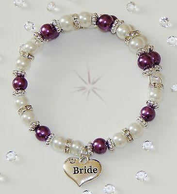 Family Member Charm Pearl Braclet Fit Older Child/adult Various Colours   Gift • 4.09£