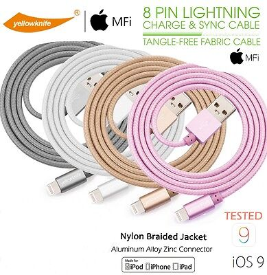 AU17.91 • Buy Apple MFi Certified Aluminum 1M Braided Lightning Cable IOS14 For IPhone 6 7 8 X