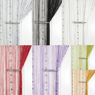£5.25 • Buy Dew Drop Beaded Chain String Curtain ~ Screen & Room Divider ~ Voile Net Panels