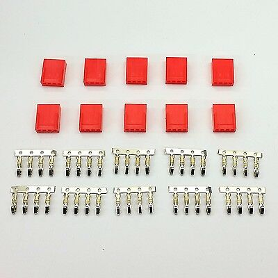 £5.99 • Buy Pk Of 10 - Female 4 Pin Fan Power Connector - Red Inc Pins
